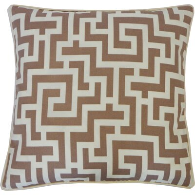 Etch Cotton Throw Pillow Color: Taupe