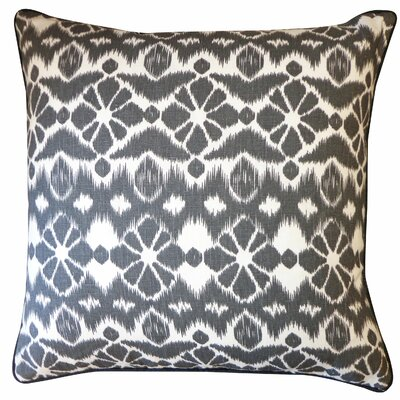Tree Cotton Throw Pillow Color: Black