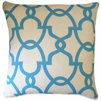 Dean Cotton Throw Pillow Color: Cream/Turquoise