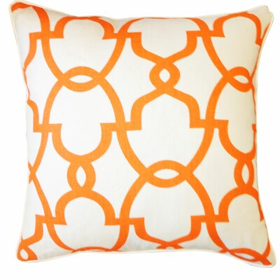 Dean Cotton Throw Pillow Color: Cream/Orange
