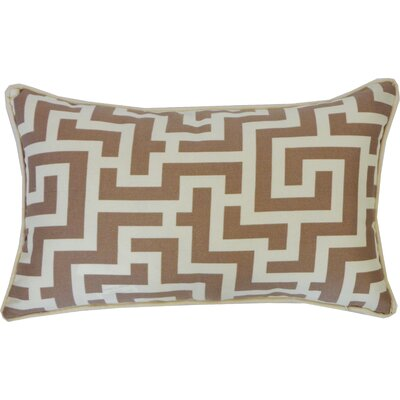 Etch Cotton Lumbar Pillow Color: Taupe