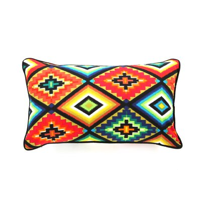 Aztec Cotton Lumbar Pillow