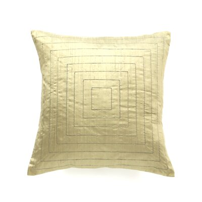 Pyramide Silk Throw Pillow Color: Sage