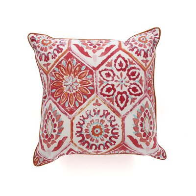 Palermo Outdoor Throw Pillow Color: Red