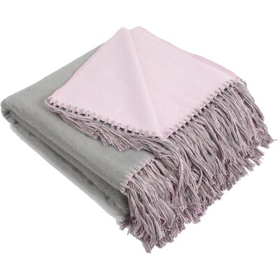 Brushed Viscose Rayon from Bamboo Throw Color: Grey/Lavender