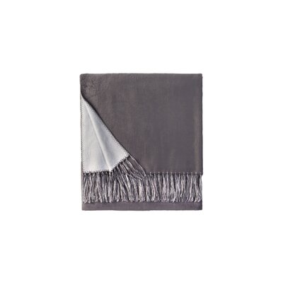 Brushed Bamboo Rayon Viscose Throw Color: Blue/Charcoal