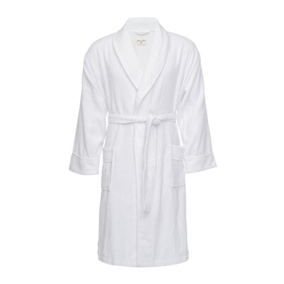 Kensington Male Bathrobe Size: S/M, Color: White