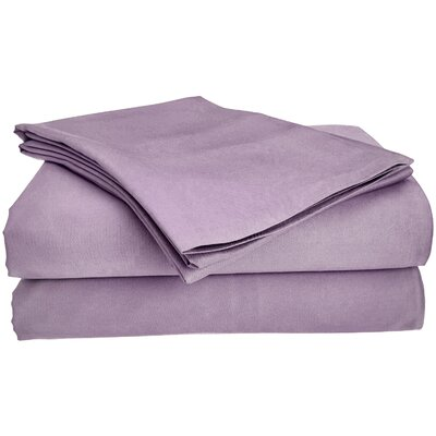 Viscose Rayon from Bamboo Pillow Case Size: King/California King, Color: Lavender