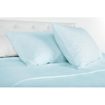 Agata 300 Thread Count 100% Tencel Sheet Set Size: Queen, Color: Blue