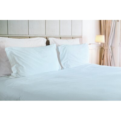 Agata 3 Piece Duvet Set Color: Blue, Size: Queen