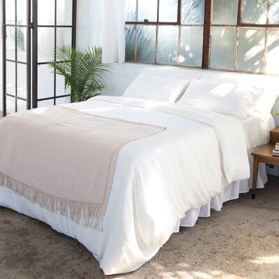Agata 300 Thread Count 100% Tencel Sheet Set Color: Ivory, Size: Queen