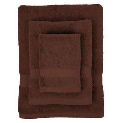 Cotton 3 Piece Towel Set Color: Chocolate
