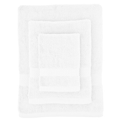 Cotton 3 Piece Towel Set Color: Pure White