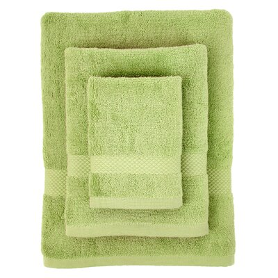 Cotton 3 Piece Towel Set Color: Light Green