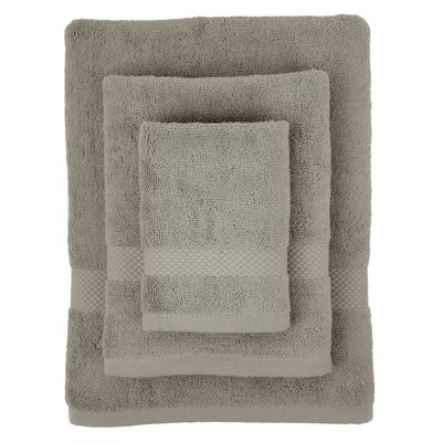 Cotton 3 Piece Towel Set Color: Light Grey
