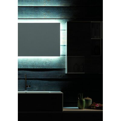 Tulle Perimeter Lighted Mirror