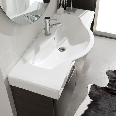 Light 2 Ceramic Specialty Drop-In Bathroom Sink with Overflow