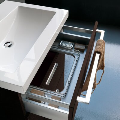 Archeda Stone Rectangular Drop-In Bathroom Sink with Overflow