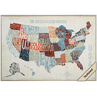 USA Modern Framed Graphic Art 4282