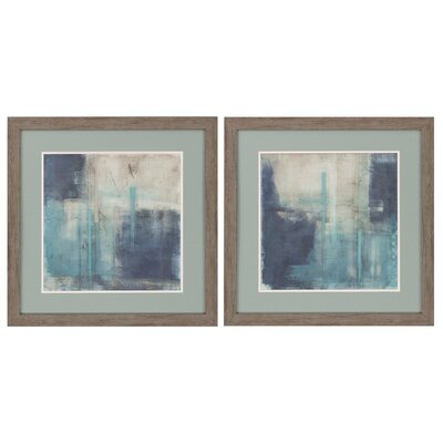 Crossfade 2 Piece Framed Painting Print Set 3629