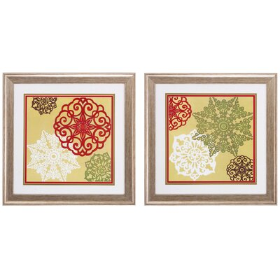 Winter Lace 2 Piece Framed Graphic Art Set 7660