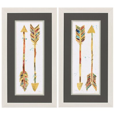 Beautiful Arrows 2 Piece Framed Painting Print Set 2836