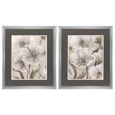Scripted Beauty 2 Piece Framed Painting Print Set 9107