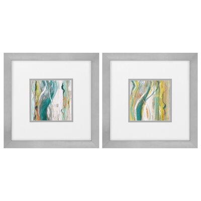 Coastal Bossa Nova 2 Piece Framed Painting Print Set 3656