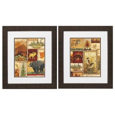 Lodge Collage 2 Piece Framed Graphic Art Set 2421
