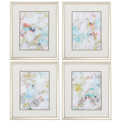 Frost 4 Piece Framed Painting Print Set 3958