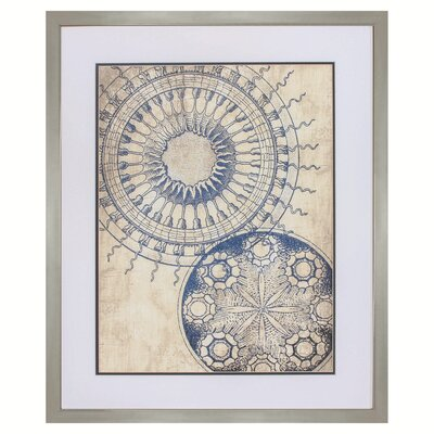 Circles Framed Graphic Art 9332