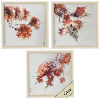 'Rusty Spring Blossom' 3 Piece Framed Painting Print Set AGGR5261 39329426