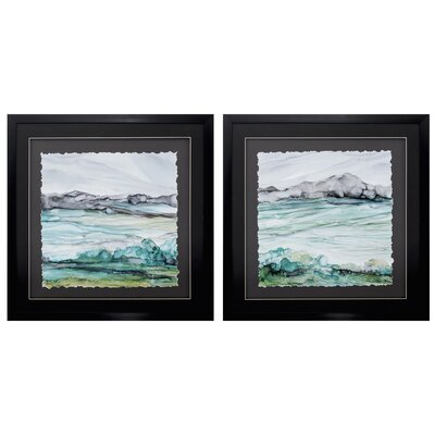 'Sea of Marble' 2 Piece Framed Print Set