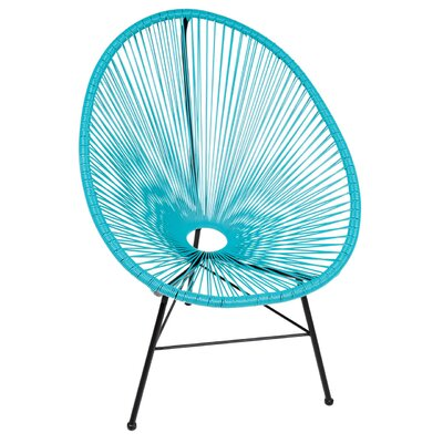 Acapulco Wire Basket Papasan Chair Finish: Blue