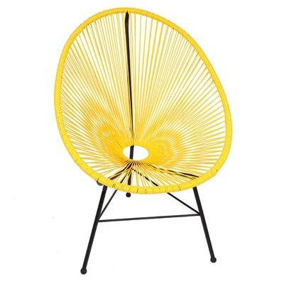 Acapulco Wire Basket Papasan Chair Finish: Yellow