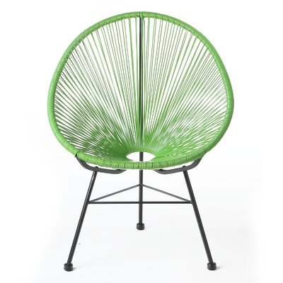 Acapulco Wire Basket Papasan Chair Finish: Green