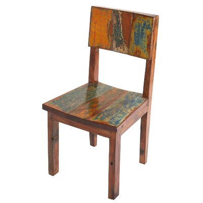 Reclaimed Boat Wood Side Dining Chair