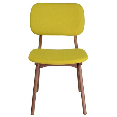 Jeanette Solid Wood Dining Chair Upholstery: Yellow