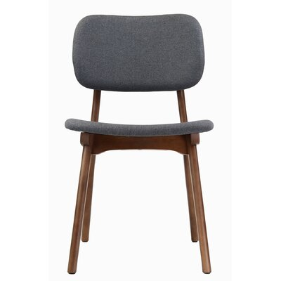Jeanette Solid Wood Dining Chair Upholstery: Gray