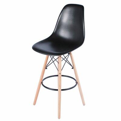 26 Bar Stool Upholstery: Black