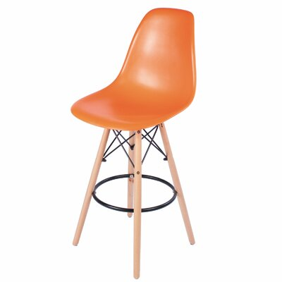 26 Bar Stool Upholstery: Orange