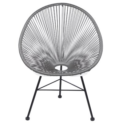 Acapulco Wire Basket Papasan Chair Finish: Gray