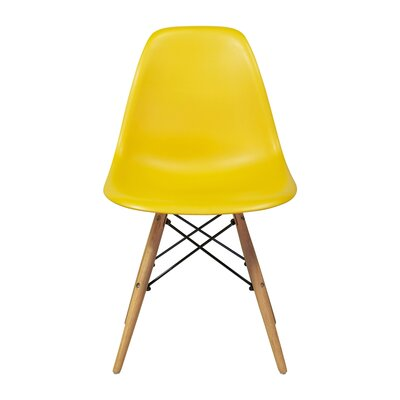 Fremont Mid-Century Modern Retro Dining Chair Color: Yellow