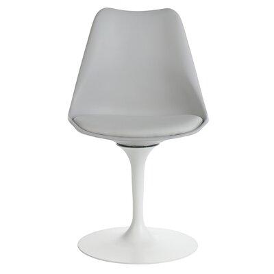 Sinkler Mid-Century Modern Swivel Upholstered Dining Chair Upholstery Color: Gray