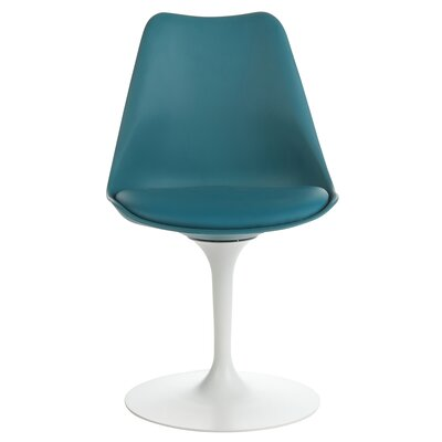 Sinkler Mid-Century Modern Swivel Upholstered Dining Chair Upholstery Color: Teal
