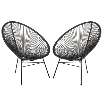 Acapulco Papasan Chair Finish: Black, Set Of: Set of 2