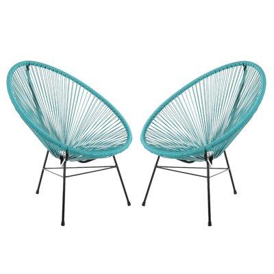 Acapulco Papasan Chair Finish: Blue, Set Of: Set of 2