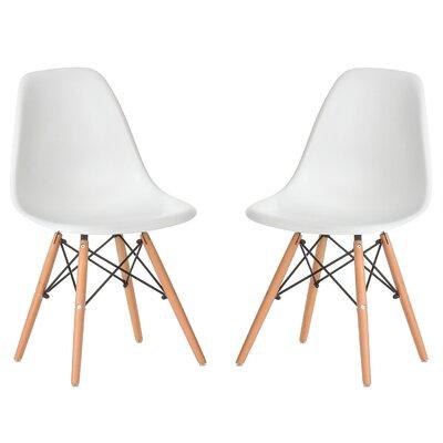 Verrill Mid Century Modern Retro Dining Chair Color: White