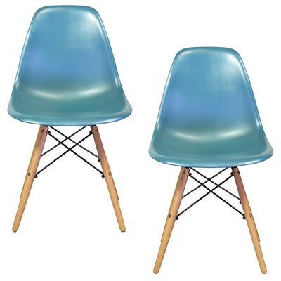 Verrill Mid Century Modern Retro Dining Chair Color: Teal