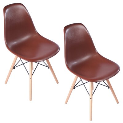 Verrill Mid Century Modern Retro Dining Chair Color: Brown